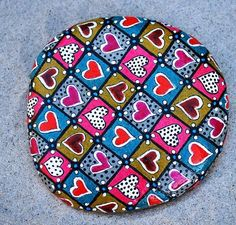 Quilt of Love/ Painted Rock / Sandi Pike Foundas via Etsy