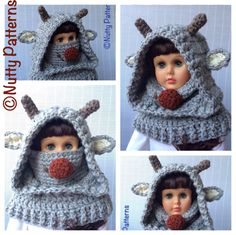 Crochet Pattern Dog Hooded Cowl Instant by nuttypatterns on Etsy Nose Warmer, Knitting Patterns, Crochet Patterns, Hooded Cowl, Super Bulky Yarn, Animal Hats, Cowl Scarf, Yarn Needle, Crochet Hooks