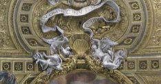 Some of the finest ceilings of the churches of Rome Baroque Sculpture, Lion Sculpture, Marble Mosaic, Rococo, Anton, Portuguese, Ceilings, Fresco, Statues