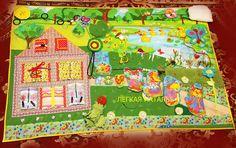 """Купить Развивающий коврик по мотивам сказки """"Теремок"""" - развивающая игрушка, развивающий коврик, развивайка"""