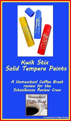 Kwik Stix Solid Tempera Paints (A Schoolhouse Crew Review) on Homeschool Coffee Break @ kympossibleblog.blogspot.com