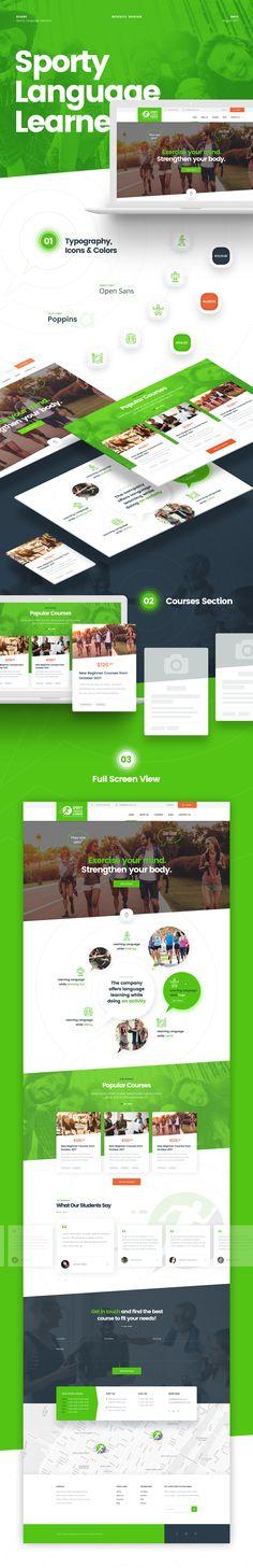 Sporty Language Learners Website Design Concept