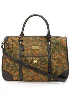 Obey Berlin Brown Print Duffle Bag at LuLus.com!