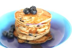 Arabafelice in cucina!: Pancakes integrali ai mirtilli e semi di chia