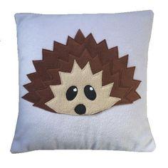 Lilac Fleece Hedgehog cushion. £20.00, via Etsy.