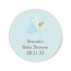 Baby Blue Stork Invitation