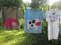 MOOOOO  Goes The Cow Kids T -shirt Farm Animals. $28,00, via Etsy.