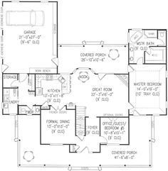 Country Style House Plans - 2571 Square Foot Home , 2 Story, 5 Bedroom and 2 Bath, 2 Garage Stalls by Monster House Plans - Plan 13-155