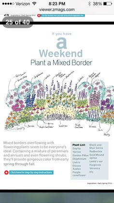 Perennial Garden Plans, Flower Garden Plans, Flower Garden Design, House Landscape, Landscape Plans, Back Gardens, Outdoor Gardens, My Secret Garden, Dream Garden
