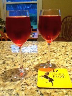 Week 10 R'Hllor Ingredients: 4oz Sparkling Rose wine2oz Cranberry Juice2oz Pama Pomegranate Liqueur Mix and serve It's been a great season!!!