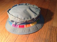 Vintage Mens Bucket Fishing Hat Olive Green with colorful band by KMART All Pro #Bucket