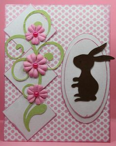 pretty easter card by http://pinkladysparadise.blogspot.com/2012/03/bunny-flourish.html