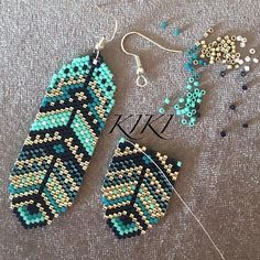 Diy Seed Bead Earrings, Beaded Earrings Native, Brick Stitch Earrings, Beaded Earrings Patterns, Beaded Jewelry Designs, Seed Bead Jewelry, Native Beadwork, Native Beading Patterns, Earrings