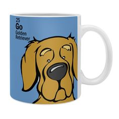 Angry Squirrel Studio Golden Retriever 25 Coffee Mug | DENY Designs Home Accessories