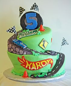 Wonky Hot Wheels Car Birthday Cake #topsyturvy