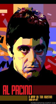 Al Pacino (Wedha's Pop Art Portrait) by Toni Agustian