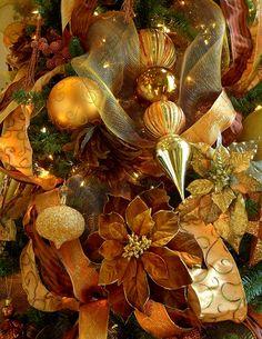 Christmas tree closeup.