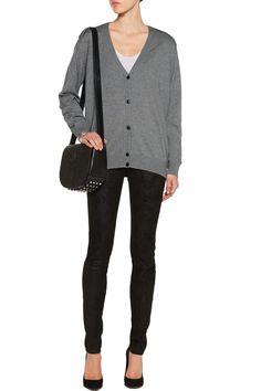Alexander WangSilk and cashmere-blend cardiganfront