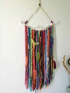 Bohemian Decor Boho Garland Wall Hanging Wall Tapestry Yarn