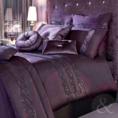 Bedding Sets for Luxury Homes – Best Bed Linen Ever Purple Bedroom Decor, Purple Bedding Sets, Purple Bedrooms, Glam Bedroom, Bedroom Colors, Home Bedroom, Comforter Sets, Kylie Minogue, Style Marocain