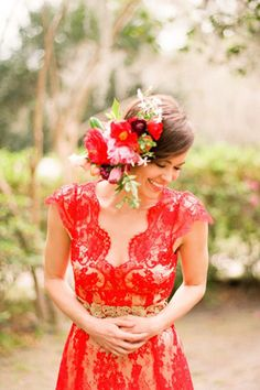 brides of adelaide magazine red bridesmaid dress Check out juul'sweddingsinspiration for more loveliness! XO Julie