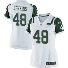 Women s Nike New York Jets  48 Jordan Jenkins Limited White NFL Jersey Nba 88ec81de7