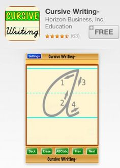 5 Apps to Help Kids Write in Cursive-YAY!