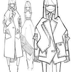 #zejak #milanzejak #fw2016 #collection #fashion #fashiondesign #fashionillustration #fashionsketches #sketches #handdrawing #drawing #blackandwhite #belgrade