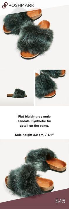 Zara furry sandals sz 6.5 New with tags! Zara furry sandals sz 6.5 New with tags! Zara Shoes