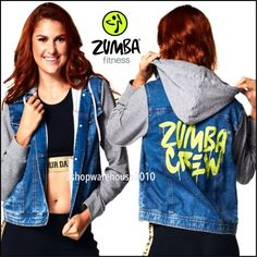 ZUMBA Crew Denim Jacket Re-MIX  French Terry EDGY/Stylish NYC Streets S M L XL #Zumba #CoatsJackets