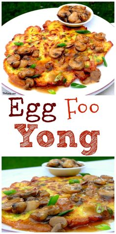 Egg Foo Yong, a delicious Chinese omelet you can easily make at home, from NoblePig.com.