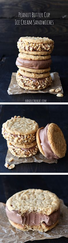 Peanut Butter Cup Ice Cream Sandwiches - the ultimate frozen treat!