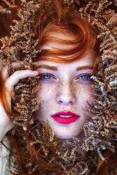 Stunning Portraits of Natural Redhead Beauties by Maja Topcagic.  Beautiful! www.jeffreysteinsalons.com