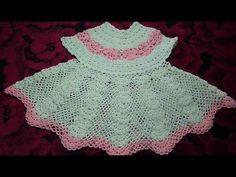 Платье вязанное крючком ажурное для девочки от 6 мес.Dress baby crochet