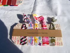 5 Elastic Hair Ties Ponytail holders by FransUniqueTreasures, $6.00