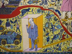 Walthamstow Tapestry (detail) by Grayson Perry