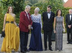 Princess Mary, Queen Margrethe, Prince Henrik, Prince Joachim and Princess Marie of Denmark.