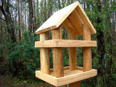 handmade wooden bird feeders