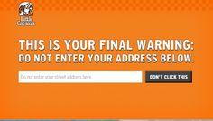Little Caesars' Forbidden Pizza Website