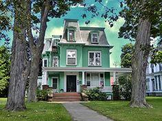 Elmira Ny ~ Alexander Eustace House ~ Historical House - Onasill ~ Bill  Badzo  Micoley's picks for #VictorianHomes www.Micoley.com