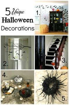 5 Unique Halloween Party Decorations that you can DIY yourself!!