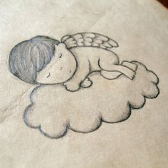 A friend asked me to do a drawing for a tatoo in memory of her baby that passed a away.