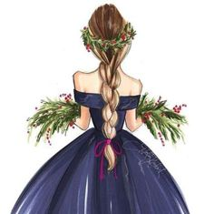 New Fashion Art Inspiration Etsy 22 Ideas Fashion Drawing Dresses, Fashion Illustration Dresses, Fashion Sketches, Dress Fashion, Fashion Illustrations, Girly Drawings, Illustration Mode, Dress Drawing, Drawing Sketches