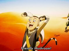 "best gif ever OMZ my little sister saw this for the first time and would not stop talking about it for DAYS! she woke me up one morning screaming ""Friendly mushroom!!""  I love this gif!~~~~ha, Ha, HA!"