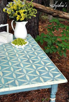 Kitchen table top redo tabletop 36 ideas for 2019 Furniture Projects, Kitchen Furniture, Furniture Makeover, Diy Furniture, Furniture Stencil, Furniture Design, Furniture Knobs, Furniture Market, Furniture Outlet