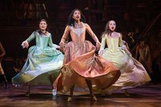 If you're obsessed with the musical Hamilton, know that you're in the company of many fine individuals. The musical about founding father Alexander Hamilton penned by Lin-Manuel Miranda… Hamilton Broadway, Hamilton Musical, Hamilton Soundtrack, Hamilton Schuyler Sisters, Hamilton Costume, Hamilton Cosplay, Sister Costumes, Hamilton Wallpaper, Jasmine Cephas Jones