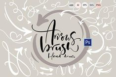 Ad: Hand drawn arrows brush by Happy Letters on Welcome to Happy Letters shop :) A collection of different variations of Photoshop arrow brushes and same vector arrows for both print and Photoshop Brushes, Photoshop Actions, Adobe Photoshop, Hand Drawn Arrows, Affinity Designer, Vector Hand, Open Window, Graphic Design Projects, Black And White Portraits