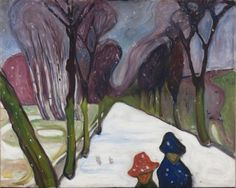 Snow on the Avenue, 1906, Edvard Munch. (1863 - 1944)