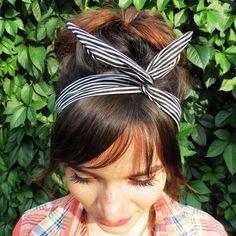 Striped headband Wire headband Pin Up headband by AccessoriesAnita