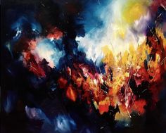Stunning Explosion of Music on Canvas by Melissa McCracken| this is Pink Floyd's Time. I need this in my life!
